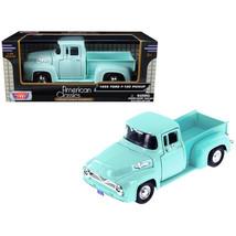 1955 Ford F-100 Pickup Truck Light Green 1/24 Diecast Model Car by Motor... - $29.61