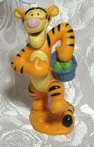 "Tigger Basket Winnie The Pooh 3"" PVC Figure Figurine Disney Cake Topper Tiger"