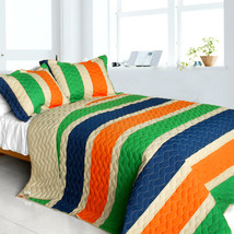 [Season of Fate] 3PC Patchwork Quilt Set (Full/Queen Size) - $99.89
