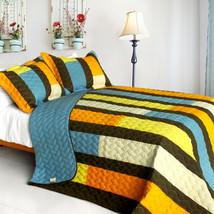 [Colorful Bridge] 3PC Patchwork Quilt Set (Full/Queen Size) - $99.89
