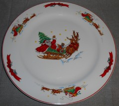 MACY'S The Cellar SANTA SLEIGH PATTERN Chop Plate or Platter HOLIDAY - C... - $24.74