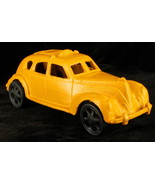 Vintage Cast Iron Yellow Painted Taxi American Manufacture 2nd Hf 20th C... - $35.99