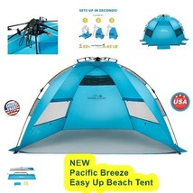 Beach Tent Outdoor Travel Camp Fishing Easy UV Sun Lightweight Shelter S... - $129.76 CAD
