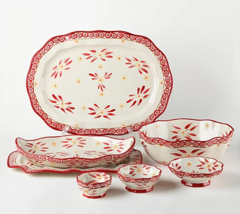Temp-tations Old World 7-Pc Specialty Nested Serving Set H219270 Cranber... - $124.99