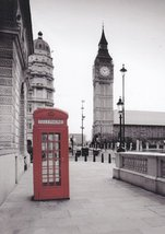 """Greeting Card Note Card """"London Calling Phone Booth"""" Blank Inside  - $2.99"""