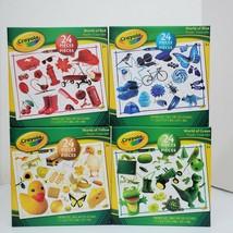 Crayola World of Blue Green Red Yellow 24 PC Puzzles Homeschool Educatio... - $19.99