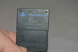 Official Black 8MB MagicGate Memory Card Sony Playstation 2 PS2 SCPH-10020 - $13.85 CAD