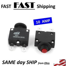 10 AMP pop up circuit breaker - overload switch resetable DC AC - $8.90