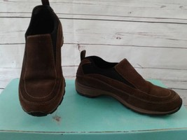 Timberland Leather Slip On Walking Hiking Shoes Women's Sz 7.5 M Brown Suede EUC - $23.05