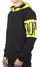 Dope Couture Black Yellow Color Blocked Pullover Hoodie D1114-J226 NWT image 2