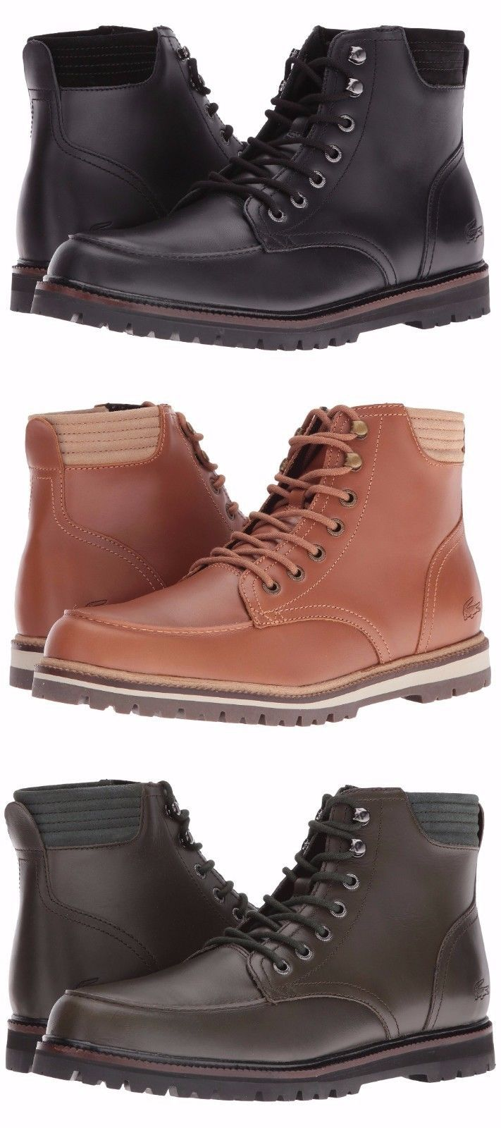 eb8ec8c68c7589 LACOSTE Leather Mens Boot Shoe! Sale 199 and 50 similar items. 57