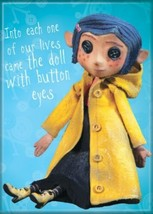 Coraline Animated Movie Doll With Button Eyes Refrigerator Magnet NEW UN... - $3.99