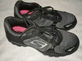 Skechers Size 8.5  GOGA Max Black Walking Sneakers  Womens Shoes - £22.74 GBP