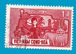 Used South Vietnam Stamp (1963) 1d Freedom From Hunger - Scott Cat# 207  …  - $2.99