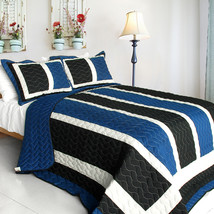 [Knight] 3PC Patchwork Quilt Set (Full/Queen Size) - $99.89