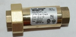 Watts Lead Free Residential Dual Check Valve Union Female NPT image 2