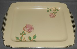 Homer Laughlin WELLS - PINK ROSES PATTERN Art Deco RECTANGULAR PLATTER - $31.67