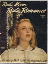 ORIGINAL Vintage December 1944 Radio Mirror Romances Georgia Carroll - $23.19