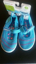 Speedo Toddler Girls NWT  Maryjane Water Shoes Small 5/6 Turquoise / Pink  - $12.99