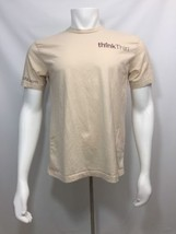 T Shirt Adult L Large Beige Think Thin Bars Promo - $19.59