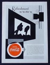 """RARE 1951 COKE COCA-COLA AD! 8 1/2x12"""" PROMOTIONAL MOVIE THEATER ADVERTI... - $24.09"""