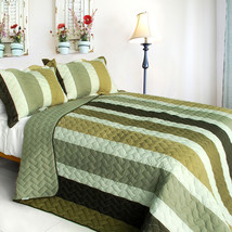 [Lost in the Dream ] 3PC Patchwork Quilt Set(Full/Queen Size) - $99.89
