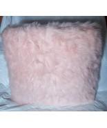 Princess Diva Pink Faux Fur Fuzzy Throw Pillow Girls