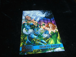1995 DC Versus Marvel Fleer SkyBox Card #88 Poison Ivy Vs. Black cat - $1.49