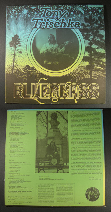 TONY TRISCHKA Light Bluegrass 1974 ROUNDER LP