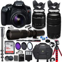 Canon EOS Rebel T6 DSLR Camera with 18-55mm IS II Lens Bundle + Canon EF... - $711.30