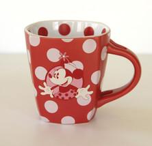 Disney Parks Minnie Mouse Polka Dot Red White Coffee Tea Hot Chocolate Mug Cup - $10.88