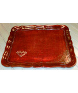 Rare Unusual Leatherette Faux Leather Serving Tray - Made in Italy - $23.95