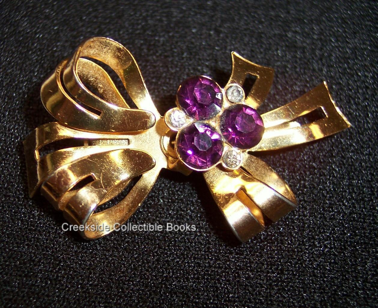 Coro ribbon brooch