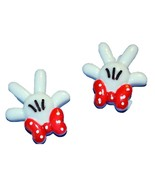 Mouse White Paws Resin Cabochons or Add Magnet (Set of 2) - $1.39