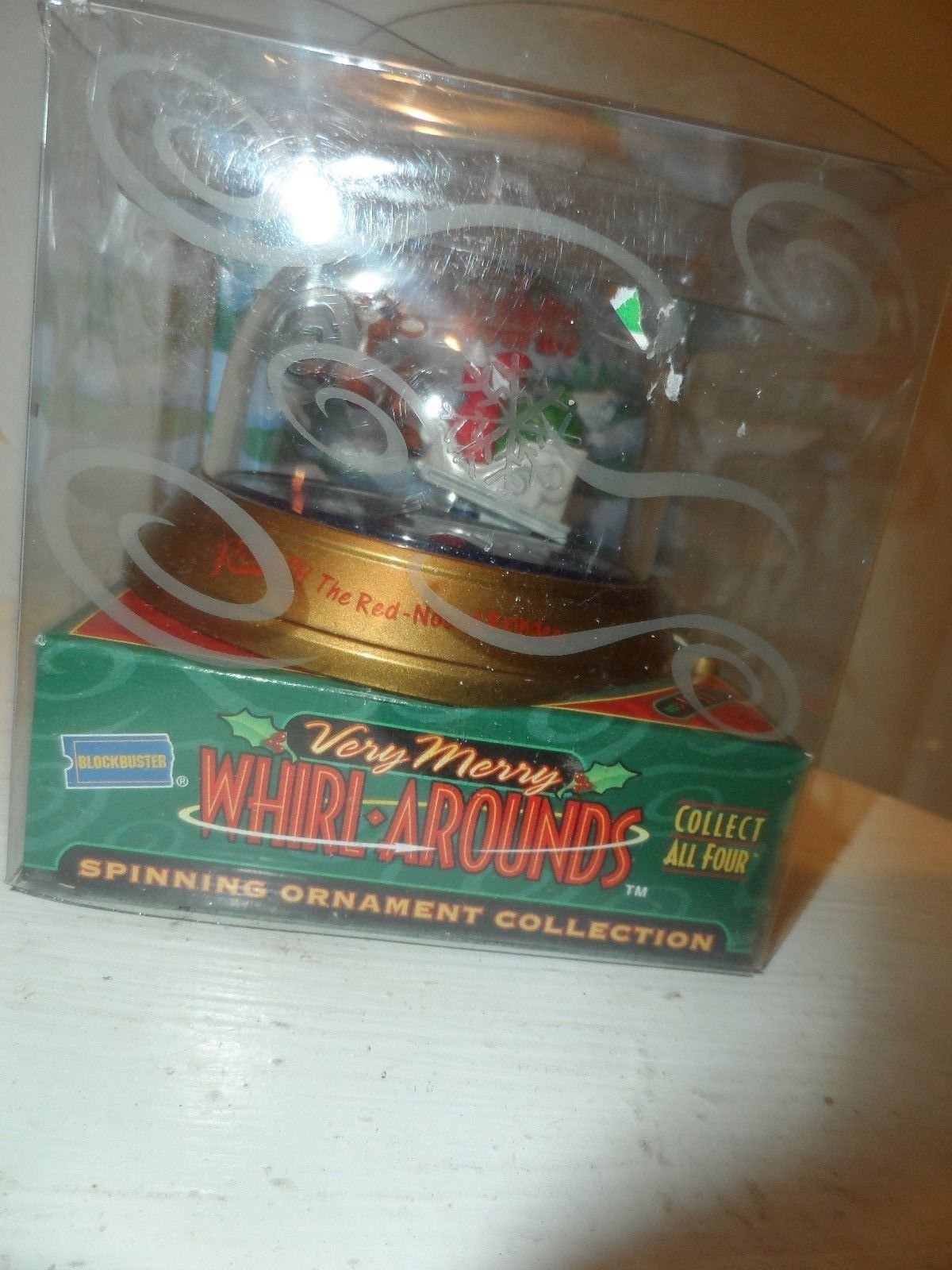 Rudolph Red Nose Blockbuster Very Merry Whirl Arounds Spinning Ornament