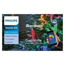 Philips Illuminate Icicle Lights Multi Color Starter Kit App Controlled ... - $89.99