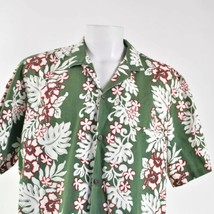Royal Creations Vintage Floral 2XL Hibiscus Leaf Fronds Hawaiian Aloha S... - $49.49