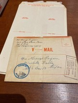 WWII V-Mail Letters Serviceman Lot World War II Letter Plus 7 Blank Forms - $18.99