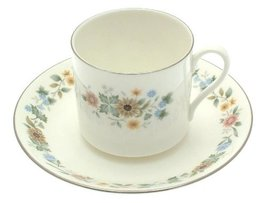 Royal Doulton Pastorale H5002 coffee cup and saucer - cltMS - $20.37