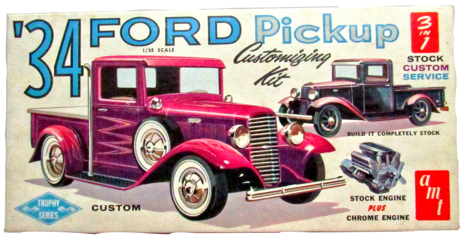 Primary image for AMT 1934 FORD PICK UP 3 IN 1 CUSTOM MODEL KIT