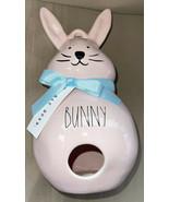 "Rae Dunn 2021 Pastel Pink Ceramic Easter BUNNY Birdhouse NEW 10"" - $36.99"
