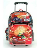 Disney Full Size Black and Red Cars WGP Foes Rolling Backpack - $46.69