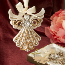1 Angel Ivory Ornament Wedding Favor Baptism Christening Christmas Custo... - $6.88+