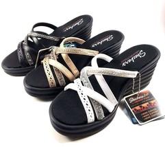 Skechers 31777 Memory Foam Wedge Platform Strappy Slip On Sandal Choose ... - $44.00