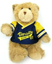 Varsity Build A Bear Workshop BABW Plush Brown Bear Stuffed Animal 1997 - $10.40