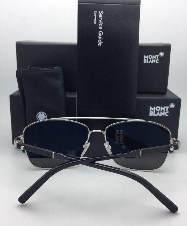 9bd36f8e70 New MONTBLANC Sunglasses MB 589S 14A 60-15 Light Ruthenium Aviator w/ Smoke  Grey