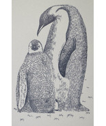 PENGUINS Drawn from Words Art Print #30 by Stephen Kline MOM BABY Happy Feet - $39.55