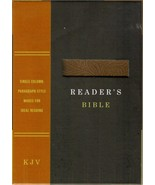 KJV Readers Bible (2016, Hand Tooled Leather ) Holy Bible Reads Like a N... - $39.49