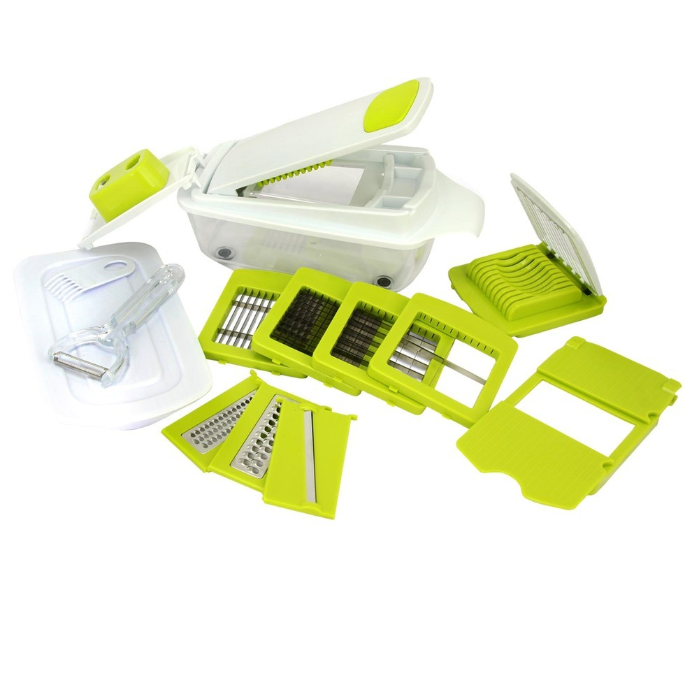 MegaChef 8-in-1 Multi-Use Slicer Dicer and Chopper with Interchangeable Blades,