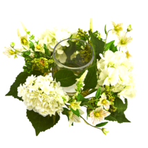 Hydrangea Artificial Arrangement Candelabrum - $53.51